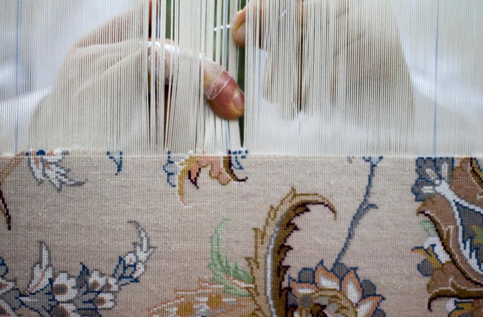 چله قالی دستباف